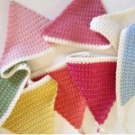 crocheted triangle bunting 2