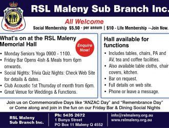 2019 Maleny RSL Knitfest Ad v2 WEB